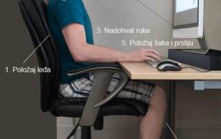 Pravilno sedenje za kompjuterom